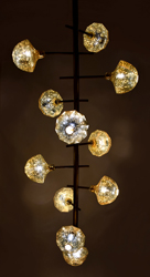 Inka Berry Chandelier in gold Antique and Brass Antique by Sahil & Sarthak
