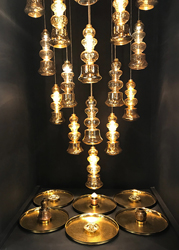 ilke lamps chandelier by Sahil & Sarthak