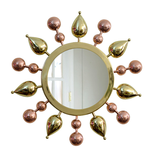 Tulsi Mirror - Gold with Copper - By sahil & sarthak