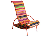 Pelican Katran Chair by Sahil & Sarthak in Orange Multicolor
