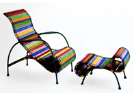 Phina Lounge Chair and Ottoman- Katran Collection by Sahil & Sarthak