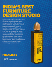 POOL AWARDS INDIA BEST DESIGN STUDIO AWARDS SAHIL SARTHAK FURNITURE CATEGORY