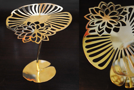 T Light Abundance Collection Lotus Flower & Leaf