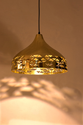Dome Light Brass Medium