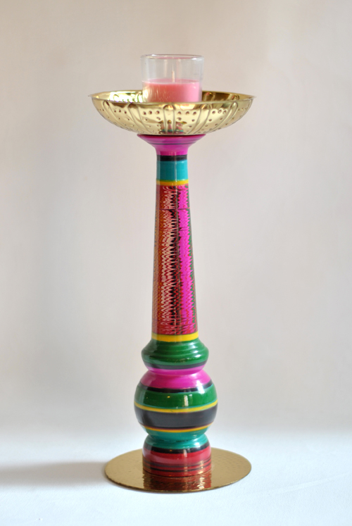 Lac Candle Stand by Sahil & Sarthak