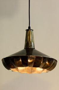 pintuck lamp 03 in brass antique designed by sahil & sarthak
