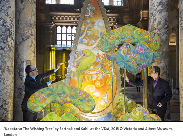 Kalpataru The Wishing Tree by Sarthak and Sahil at the V&A, 2015