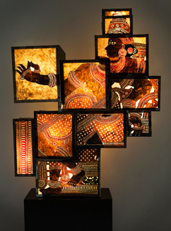 Kerala Sutra Leather puppet Light installation - Horse