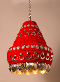 kerala sutra designed by Sahil & Sarthak for Somnay Mango Tree - theyyum hanging lamp