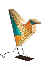 Love Bird Lamp in Paper by Sahil & Sarthak