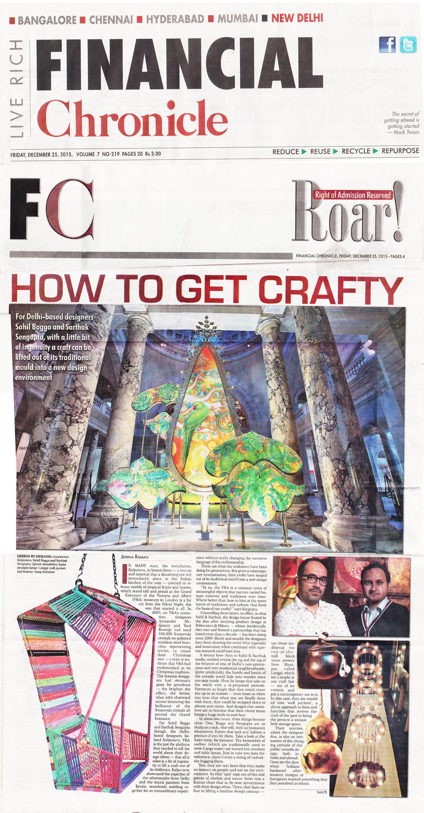 FINANCIAL CHRONICLE | 25 December 2015